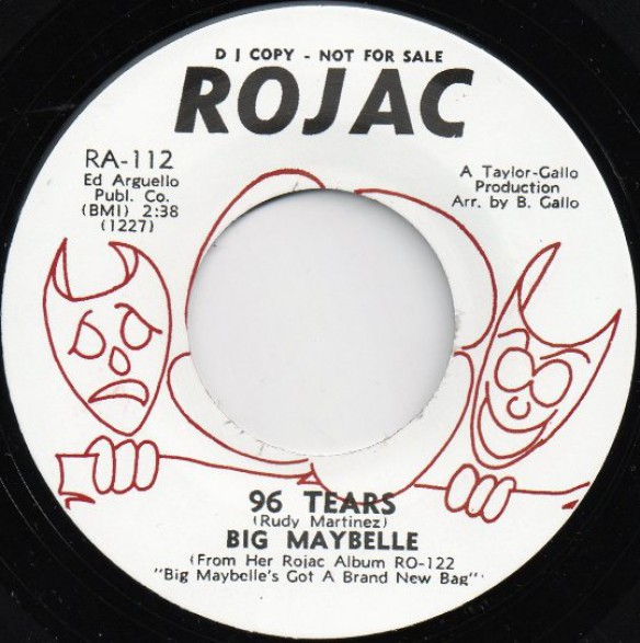 """BIG MAYBELLE """"96 TEARS/THAT'S LIFE"""" 7"""""""