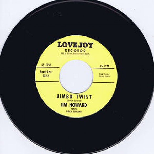 "JIM HOWARD ""JIMBO TWIST / DOWN AT OLD JIMBO'S"" 7"""