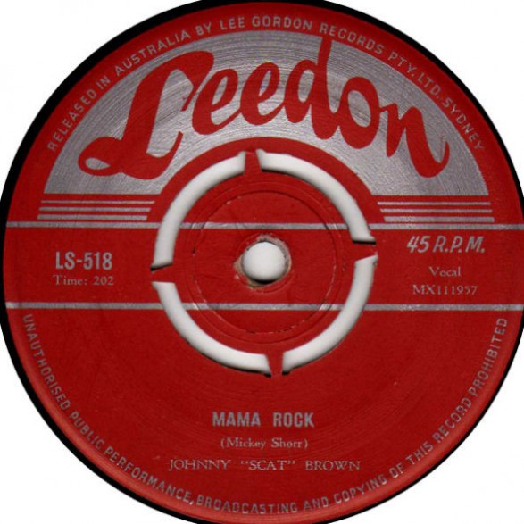 """Johnny """"Scat"""" Brown & The Moon Rockets """"Mama Rock / Little Star"""" 7"""""""