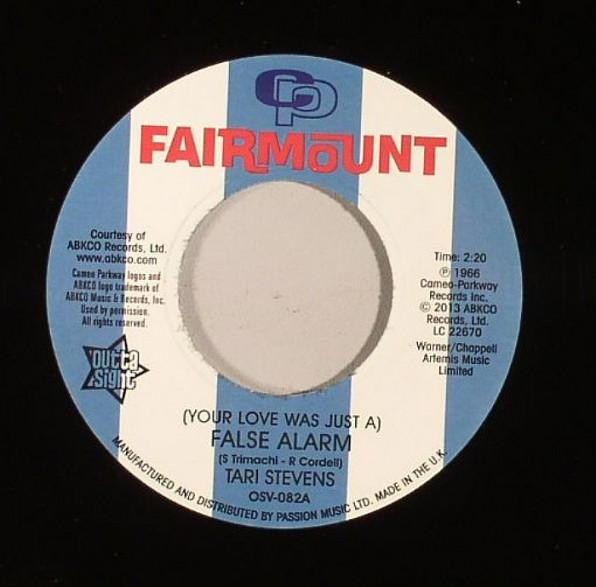 "TARI STEVENS ""False Alarm/ BONNIE & LEE ""The Way I Feel About You"" 7"""