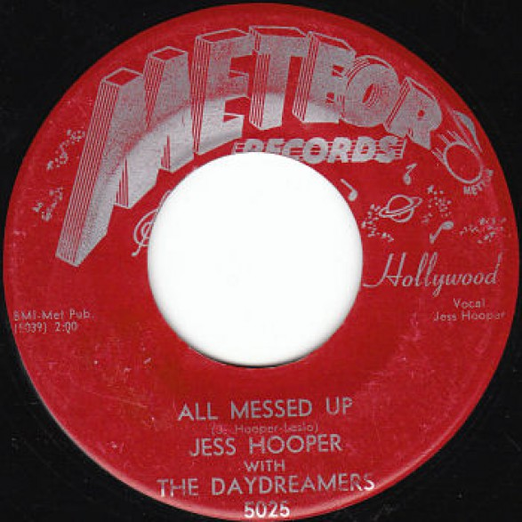 """Jess Hooper With The Daydreamers """"Sleepy Time Blues/All Messed Up"""" 7"""""""