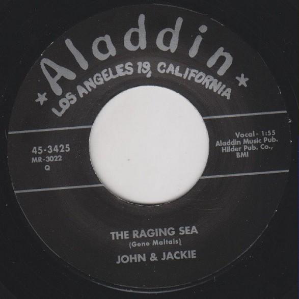 "JOHN & JACKIE ""LITTLE GIRL/THE RAGING SEA"" 7"""