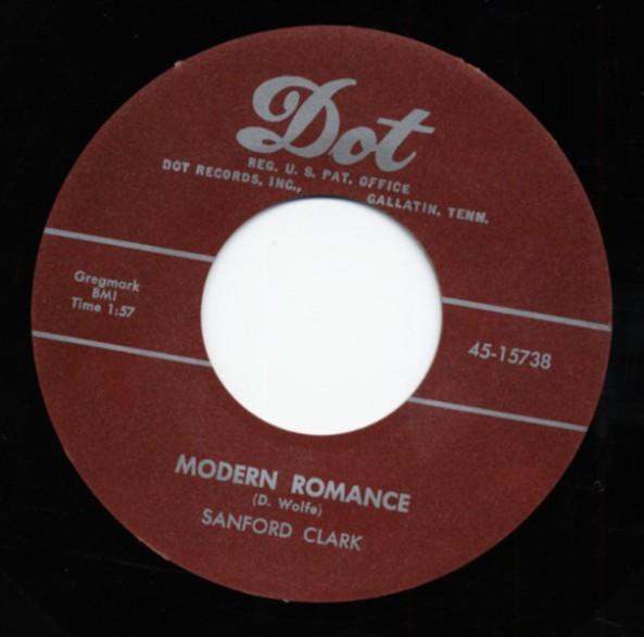 "SANFORD CLARK ""Modern Romance / Love Charms"" 7"""