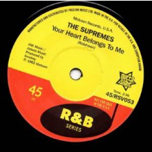 "THE SUPREMES ""Your Heart Belongs To Me"" 7"""