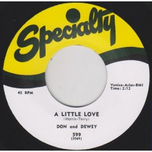 "DON & DEWEY ""A LITTLE LOVE/ JUNGLE HOP"" 7"""