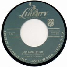 "EDDIE COCHRAN ""Jam Sand Witch""/ JOHNNY BURNETE ""Wampus Cat"" 7"""