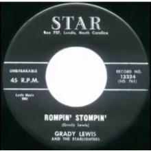 "GRADY LEWIS ""Rompin' Stompin'/Sad Story"" 7"""