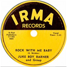 "JUKE BOY BARNER ""ROCK WITH ME BABY/WELL BABY"" 7"""