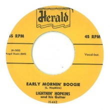 "LIGHTNIN' HOPKINS ""HOPKINS SKY HOP/EARLY MORNIN' BOOGIE"" 7"""
