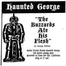 """HAUNTED GEORGE """"THE BUZZARD ATE HIS FLESH/The Tomb"""" 7"""""""