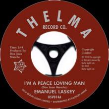 "Emanual Laskey ""Peace Loving Man/ Don't Lead Me On"" 7"""