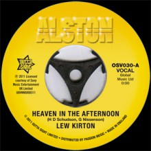 "Lew Kirton ""Heaven In The Afternoon/ Heaven In The Afternoon (Instrumental)"" 7"""