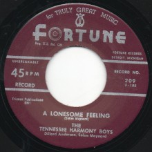 "TENNESSEE HARMONY BOYS ""I'M A MILLIONAIRE/ A LONESOME FEELING"" 7"""