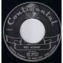 "Joe Boots & His Band ""Well Allright/ Rock'N Roll Jungle Girl"" 7"""