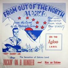 """Harry Lee """"Rockin' On A Reindeer/Kiss An Eskimo"""" 7"""""""