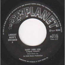 "Lindsay Muir's Untamed ‎""Daddy Long Legs/Trust Yourself A Little Bit"" 7"""