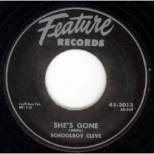 "SCHOOLBOY CLEVE ""SHE'S GONE/STRANGE LETTER BLUES"" 7"""