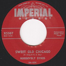 "Roosevelt Sykes ‎""Sweet Old Chicago / Hush Oh Hush"" 7"""