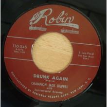 """CHAMPION JACK DUPREE """"SHIM SHAM SHIMMY/ DRUNK AGAIN"""" 7"""""""
