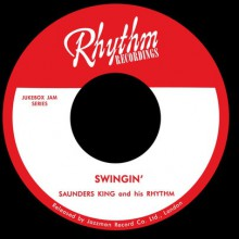 "SAUNDERS KING ""Swingin / Lazy Woman Blues"" 7"""