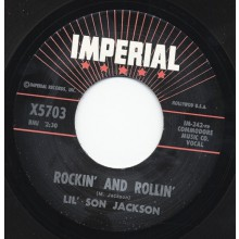 "T-BONE WALKER ""TRAVELIN' BLUES"" / LIL' SON JACKSON ""ROCKIN' & ROLLIN"" 7"""