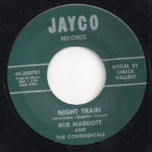 "BOB MARRIOTT & The Continentals ""I'LL WALK A MILE / NIGHT TRAIN"" 7"""