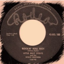 "STOLTZ BROTHERS (Little Billy / Eddie) ""Rock-N' Roll Riot / Eddy's Rock"" 7"""