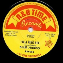 "SLIM HARPO ""I GOT LOVE IF YOU WANT IT / I'M A KING BEE"" 7"" (Outta Sight)"
