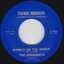 "AQUANAUTS ""RUMBLE ON THE DOCKS / BOMBORA"" 7"""