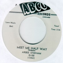"ARBEE STIDHAM ""MEET ME HALF WAY / I'LL ALWAYS REMEMBER YOU"" 7"""