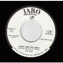 "BIG BOB ""YOUR LINE WAS BUSY / WHAT AM I"" 7"""