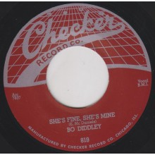 "BO DIDDLEY ""SHE'S FINE. SHE'S MINE/ I'M LOOKING FOR A WOMAN"" 7"""