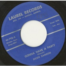 "Dickie Damron ""Gonna Have A Party/Rockin' Baby"" 7"""