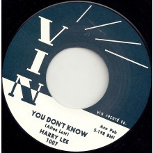 "HARRY LEE ""YOU DON'T KNOW / EVERYTIME I SEE YOU"" 7"""