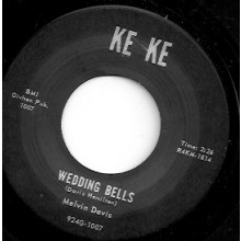 "MELVIN DAVIS ""WEDDING BELLS / IT'S NO NEWS"" 7"""