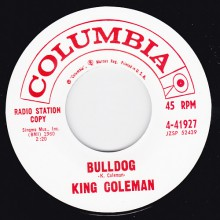 "KING COLEMAN ""BULLDOG / BLACK BOTTOM BLUES"" 7"""
