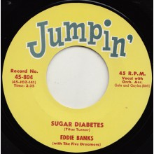 "EDDIE BANKS ""SUGAR DIABETES"" / ERNIE FIELDS ""TEEN FLIP"" 7"""