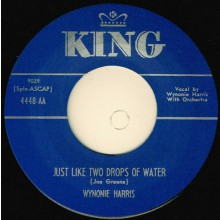 "WYNONIE HARRIS ""JUST LIKE TWO DROPS OF WATER / TREMBLIN'"" 7"""