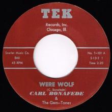 "Carl Bonafede & The Gem-Tones ""Were Wolf / Story That's True"" 7"""