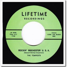 "TEMPESTS ""ROCKIN' ROCHESTER U.S.A / LEMON LIME"" 7"""